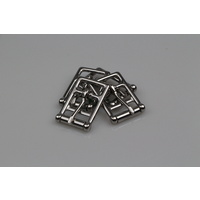 "Girth buckle 4 x 25mm or 1"" steel/nickel"