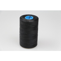 MOX waxed polyester sewing thread Black .6mm 1000m