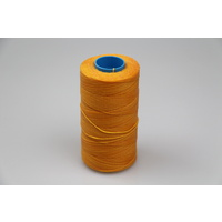 MOX waxed polyester sewing thread yellow .6mm 1000mt