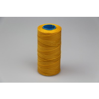 MOX waxed polyester sewing thread yellow .8mm 400mt