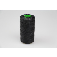 MOX waxed polyester sewing thread black 1.0mm 400mt spool