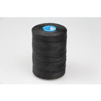 MOX waxed polyester sewing thread Black 1.2mm 400m spool