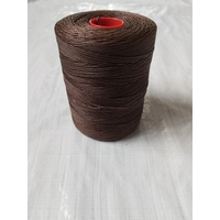 MOX waxed polyester sewing thread Mahogany 1.4mm 400m spool