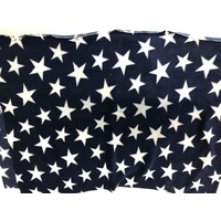Navy/White Stars Anti Pill Polar Fleece fabric 150cm wide 280gsm