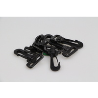 Snap hook plastic clips 10 x 25mm