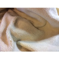 Faux Fur SHERPA FLEECE Lambswool Fabric Material - NATURAL 150cm