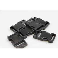 Side release buckle 6 sets of clips 25mm  x 12 pieces