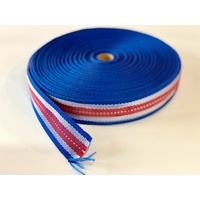 Polypropylene Binding Red, White and Blue 50mts 44mm