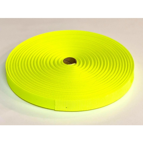Polyester Ballistic/Backpack Webbing 50mm  x 10m [colour: Fluro yellow] [ID CODE: W5054]