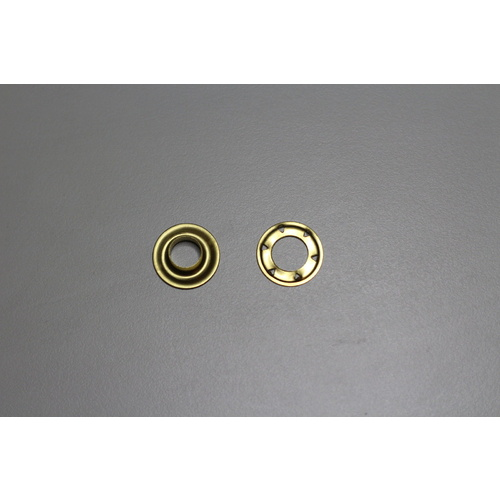 AUSTRALIAN MADE SP6 100 sets Eyelets and Spur Washers Solid Brass