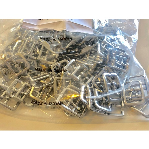 BULK Double Bar 100 x 20mm or steel/nickel plated Buckle