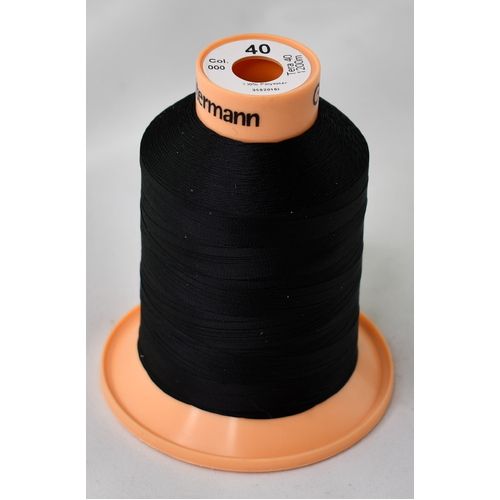 Gutermann Tera 40 Polyester Sewing Thread x 1200m [Colour: Black]