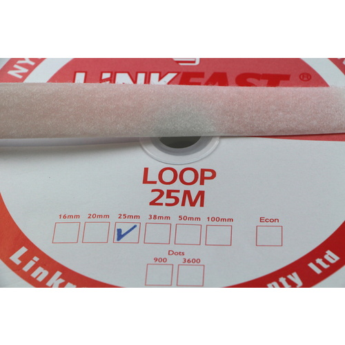Hook & Loop - Adhesive LOOP SIDE 25m x 50mm [Colour: black]