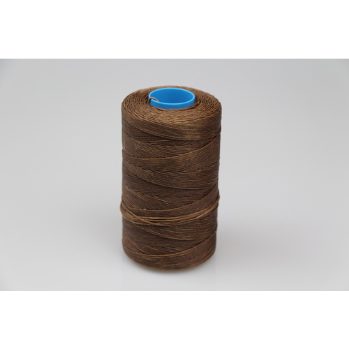 MOX waxed polyester sewing thread Brown 1.0mm 400m spool