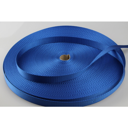 Polyester Webbing Heavy Duty Ribbed 10mts x 25mm [Colour: royal blue] [ID CODE: W102]